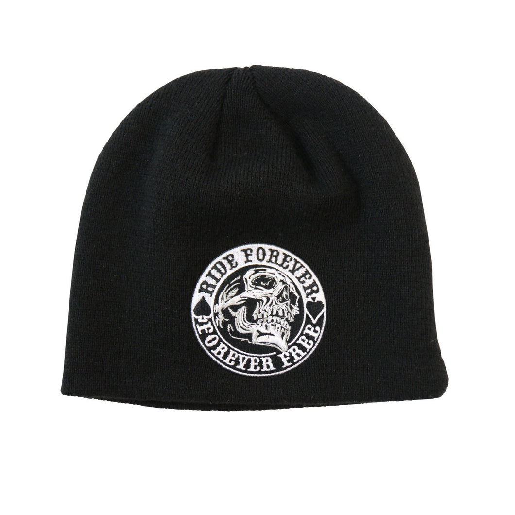 Ride Forever Free Skull Hardcore Beanie, Clothing Accessories - Fat Skeleton UK
