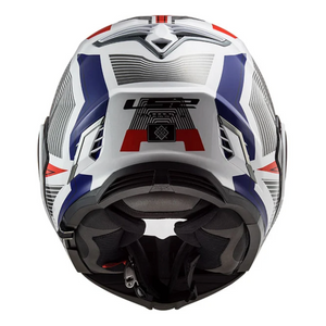 LS2 FF399 Valiant 2 REVO White Red Blue Modular Flip Over Flip Front Full Face / Open Face Motorcycle Helmet