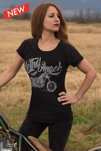 """Bike Shirt"" by Lethal Angel, Womens Clothing - Fat Skeleton UK"