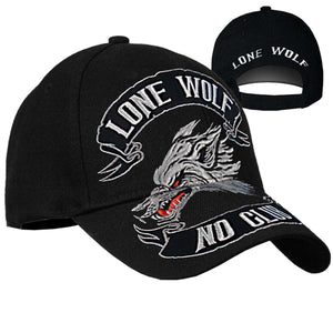 Lone Wolf No Club Baseball Cap, Clothing Accessories - Fat Skeleton UK