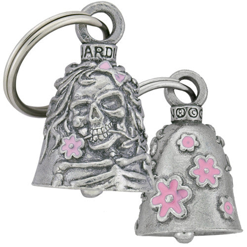 Lady Rider Flower Skulls Guardian Angel Bell, Lifestyle Accessories - Fat Skeleton UK