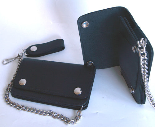 Large Leather Wallet Chain & Clip, Accessories - Fat Skeleton UK