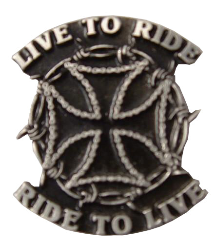 Live To Ride Peter Pin Badge, Lifestyle Accessories - Fat Skeleton UK