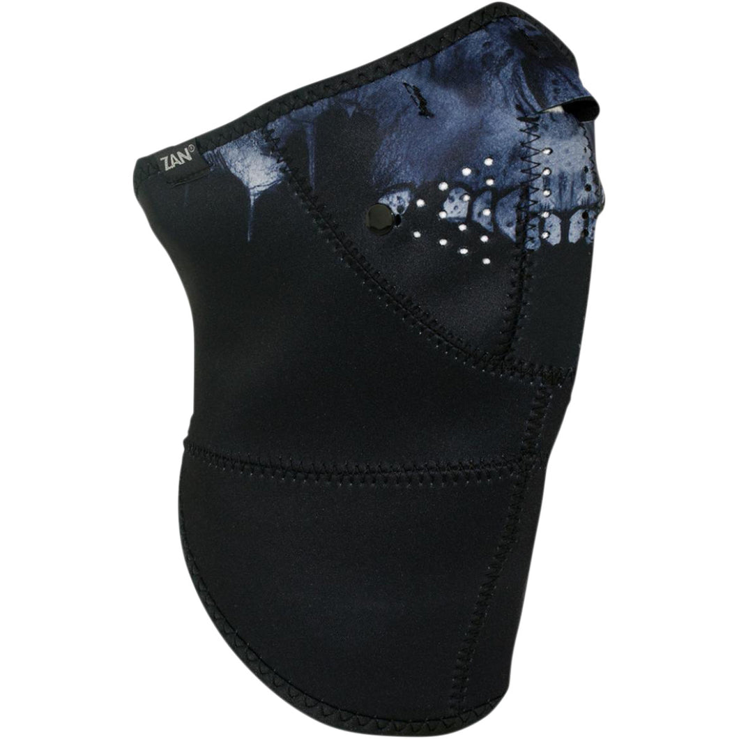 Neo-X Zan Longer Neck 3 Panel Dark Skull Neoprene Mask, Neck Warmers & Face Masks - Fat Skeleton UK