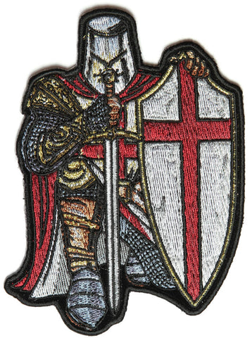 St George Crusader Crusader Small Sew on Patch, Accessories - Fat Skeleton UK