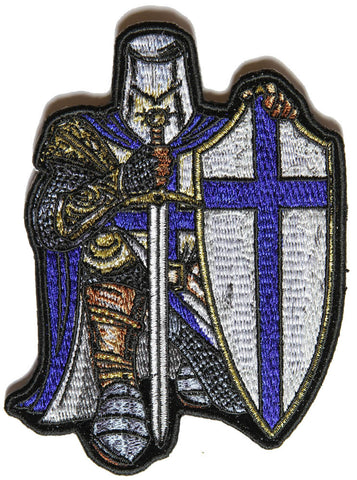 Blue Cross Knights Templar Crusader Small Sew on Patch, Lifestyle Accessories - Fat Skeleton UK