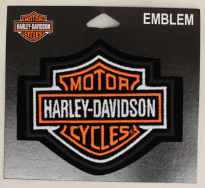 Genuine Harley Davidson Medium Bar & Shield Logo SEW ON PATCH, Lifestyle Accessories - Fat Skeleton UK