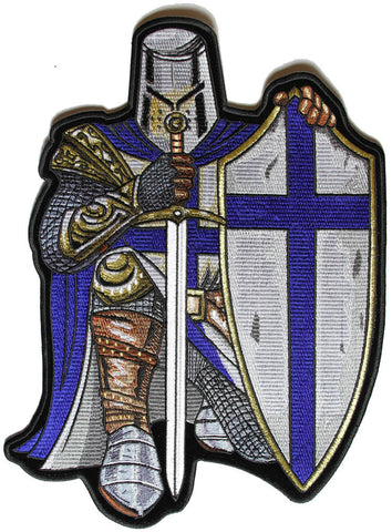 Blue Cross Knights Templar Crusader LARGE Sew on Patch, Lifestyle Accessories - Fat Skeleton UK