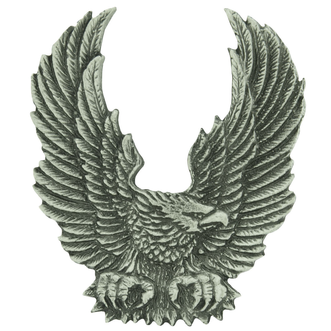 Upswept Wing Eagle Pewter badge, Lifestyle Accessories - Fat Skeleton UK