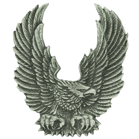 Upswept Wing Eagle Pewter badge, Accessories - Fat Skeleton UK