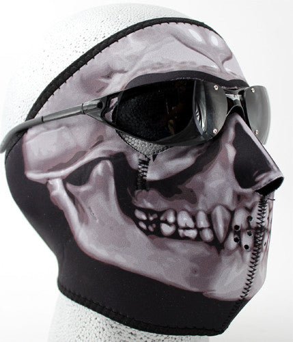Photo Realistic Skull Full Face Neoprene Mask, Neck Warmers & Face Masks - Fat Skeleton UK