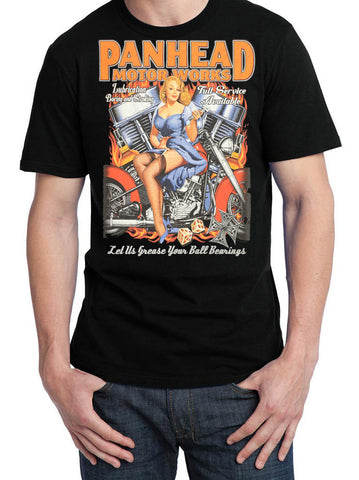 Introductory Offer Panhead Motorworks Pin Up T Shirt