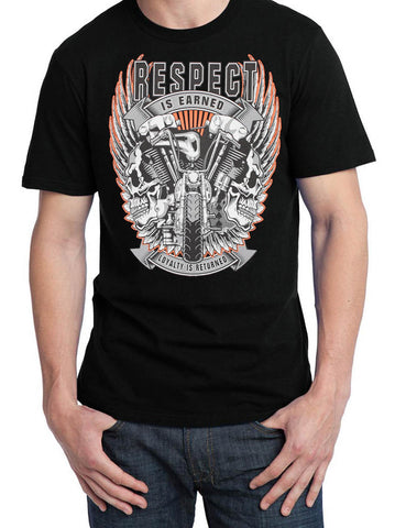 Introductory Offer Knucklehead Skulls Respect is Earned Biker T Shirt