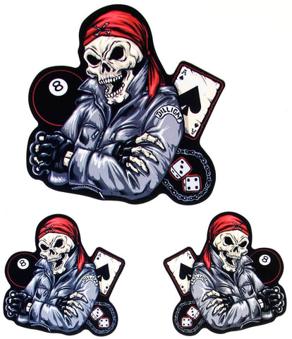 Dilligaf Biker Skeleton Sticker Set
