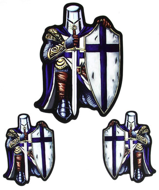 Blue Cross Crusader Sticker Set, Lifestyle Accessories - Fat Skeleton UK