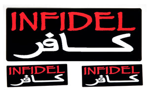 Infidel in Arabic Sticker Set, Lifestyle Accessories - Fat Skeleton UK