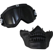 Skull Jaw Urban Mask & Goggles for Open Face Helmet, Open Face Helmets - Fat Skeleton UK