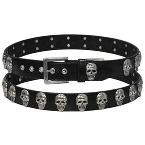 Leather Belt with Large Skull Studs, Clothing Accessories - Fat Skeleton UK
