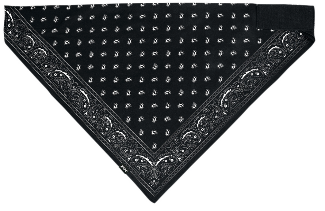 Zan Black Paisley Sportsfex Bandana, Neck Warmers & Face Masks - Fat Skeleton UK