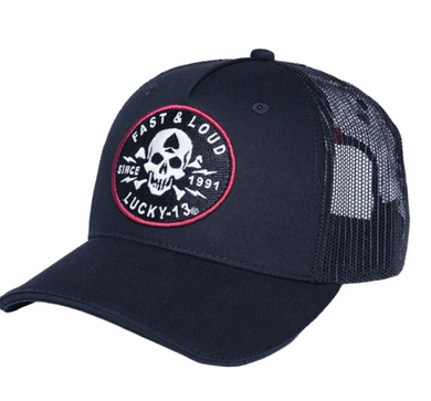 Lucky 13 Fast & Loud Baseball Trucker Cap