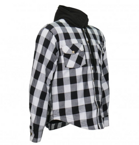 Black & White Check Riding Shirt with Hood+ Elbow & Shoulder armour