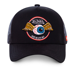 Von Dutch Flying Eyeball Logo 'Rag' Baseball Cap