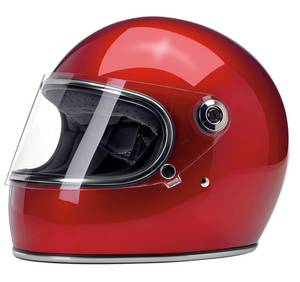 Biltwell Gringo S Gloss Red Retro Full Face Helmet