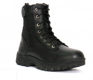 Hot Leathers Genuine Leather Swat Style Rider Boots with side zips
