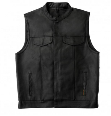 Genuine Leather USA Club Style Waistcoat / Cut