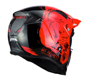 MT Streetfighter Red Darkness Helmet Full / Open Face Cross-Over Cruiser Helmet