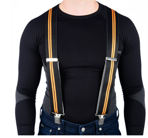 Black with Orange Stripe Rider Braces Riggers by Oxford Products