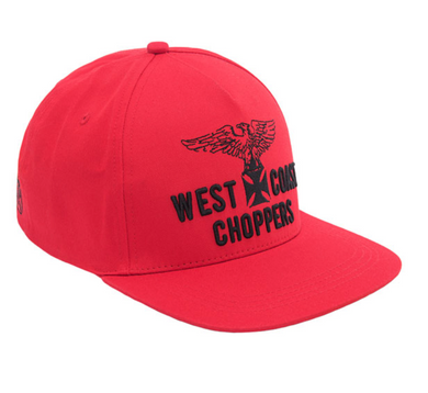 West Coast Choppers Eagle Snap Back RED Cap Jesse James