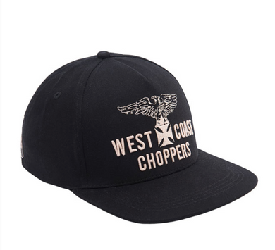 West Coast Choppers Eagle Black Snap Back Cap Jesse James