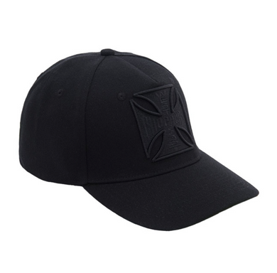 West Coast Choppers 3D Black Tone logo Peak Bill Cap Cap Jesse James