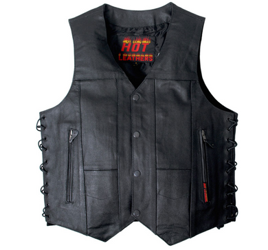 10 Pocket Heavy Weight Leather Waistcoat