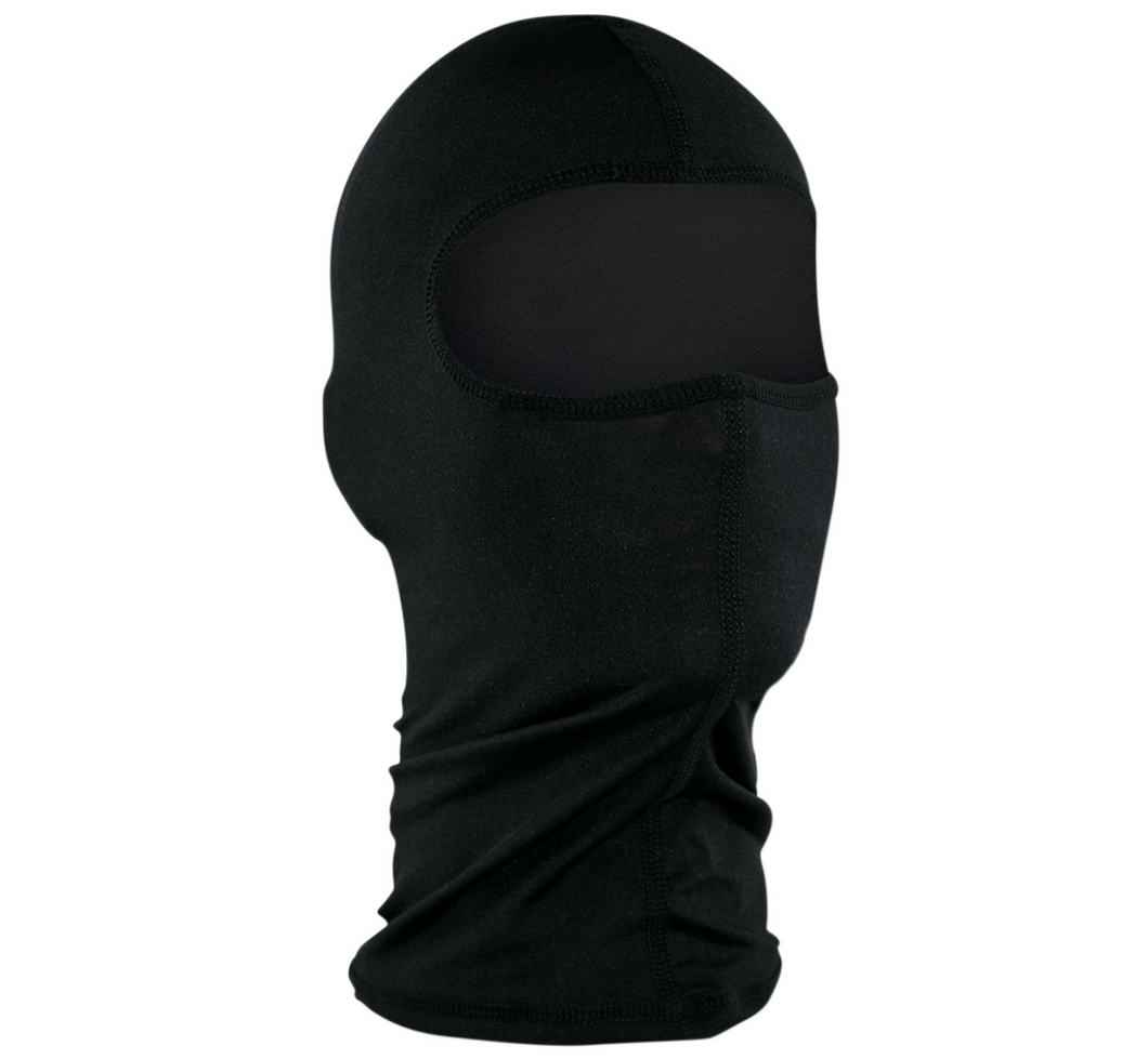 Black Fleece Under Helmet Balacalava with zip