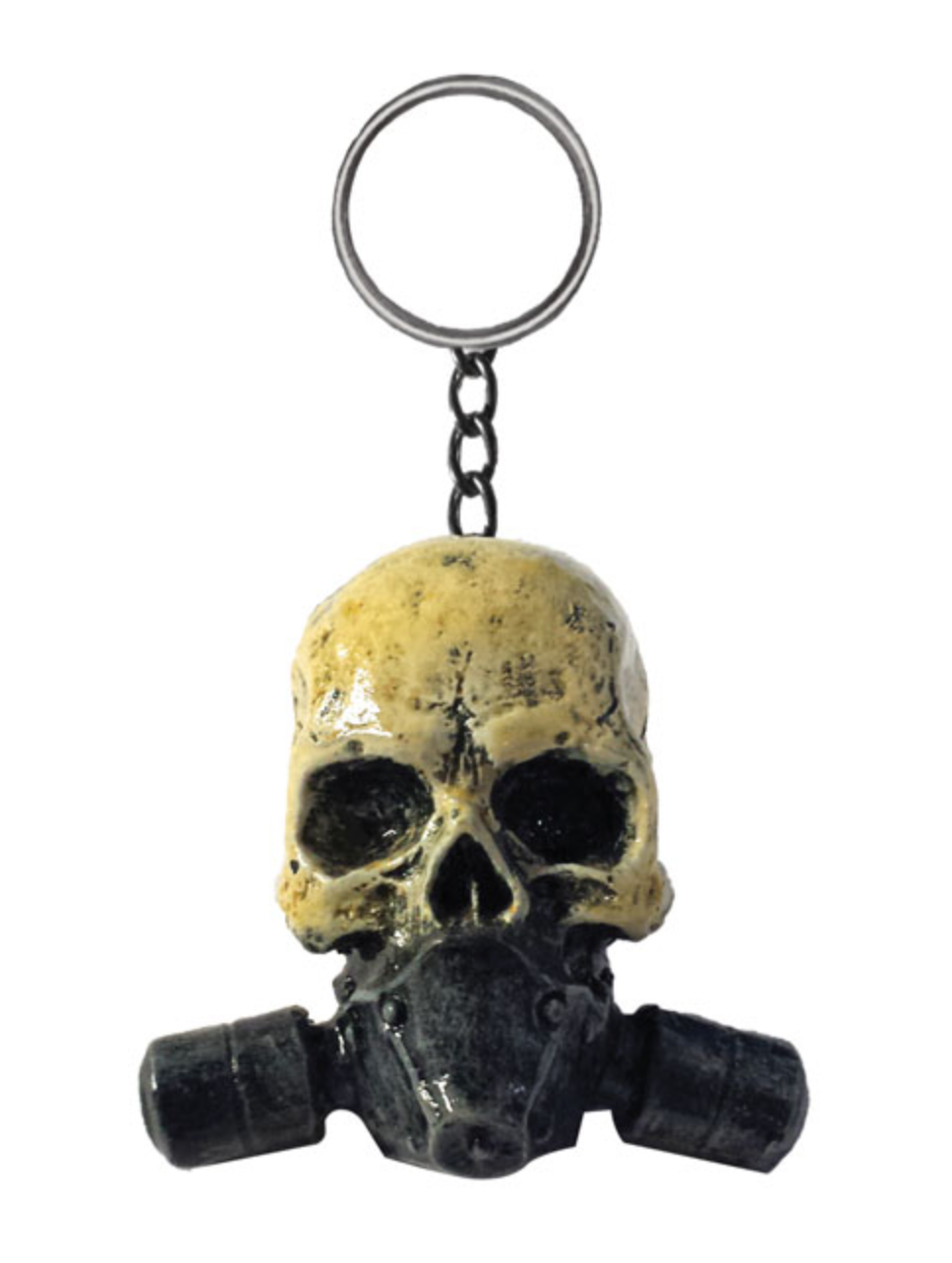 Kustom Kulture Skull Gas Chain Mask Key Ring by Skullptures