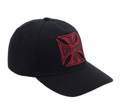 West Coast Choppers 3D Red logo Peak Bill Cap Jesse James