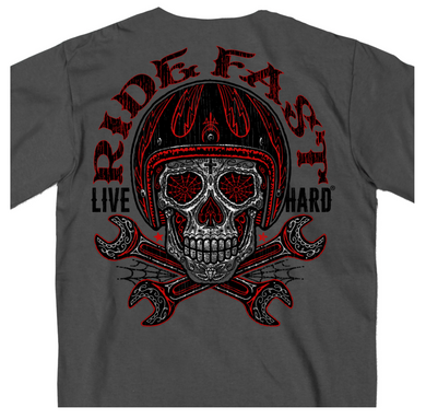 Ride Fast Sugar Skull T Shirt