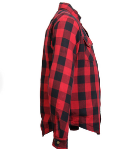 Red & White Check Riding Shirt with Elbow & Shoulder armour