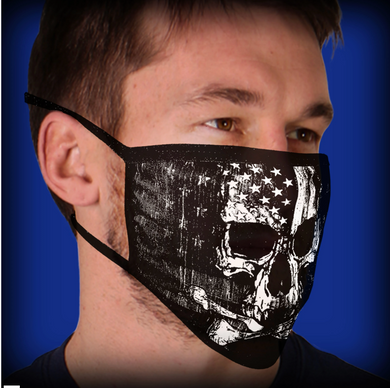 Hot Leathers Flag Skull Pandemic Face Mask