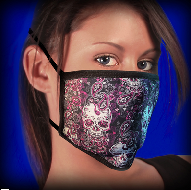 Hot Leathers Paisley Skull Pandemic Face Mask