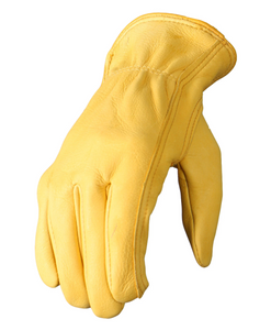 Soft Deerskin 'Gold' Leather Cruiser Gloves