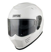 Simpson Venom Full Face Motorcycle Helmet Gloss White plus FREEBIES