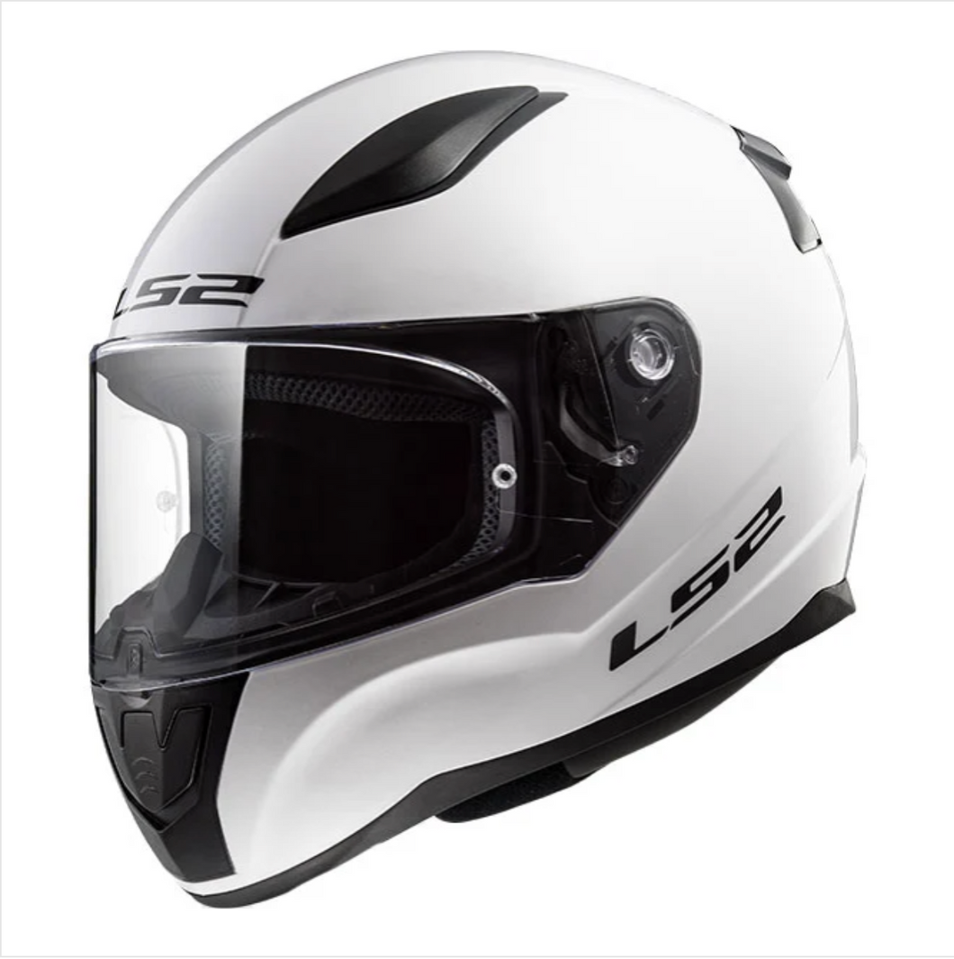 LS2 F353 Gloss White Full Face Motorcycle Helmet