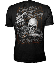Lethal Threat The Only Therapy Biker Skull T Shirt