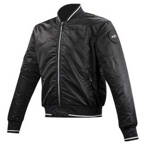 LS2 Brighton Black Bomber Jacket with Elbow & Shoulder armour