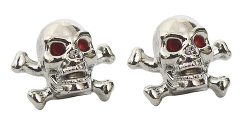 Skull & Cross Bones Valve Caps, Cruiser Accessories - Fat Skeleton UK