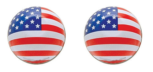 Stars n Stripes Valve Caps, Motorcycle Accessories - Fat Skeleton UK