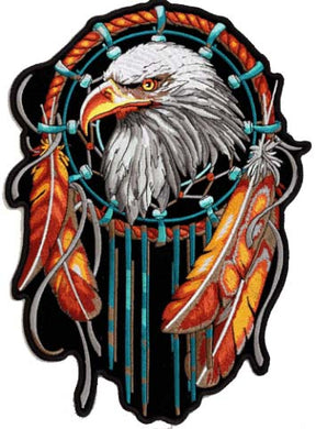 Stunning Eagle Dreamcatcher Patch, Lifestyle Accessories - Fat Skeleton UK